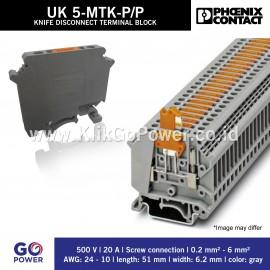 KNIFE DISCONNECT TERMINAL BLOCK UK5-MTK-P/P
